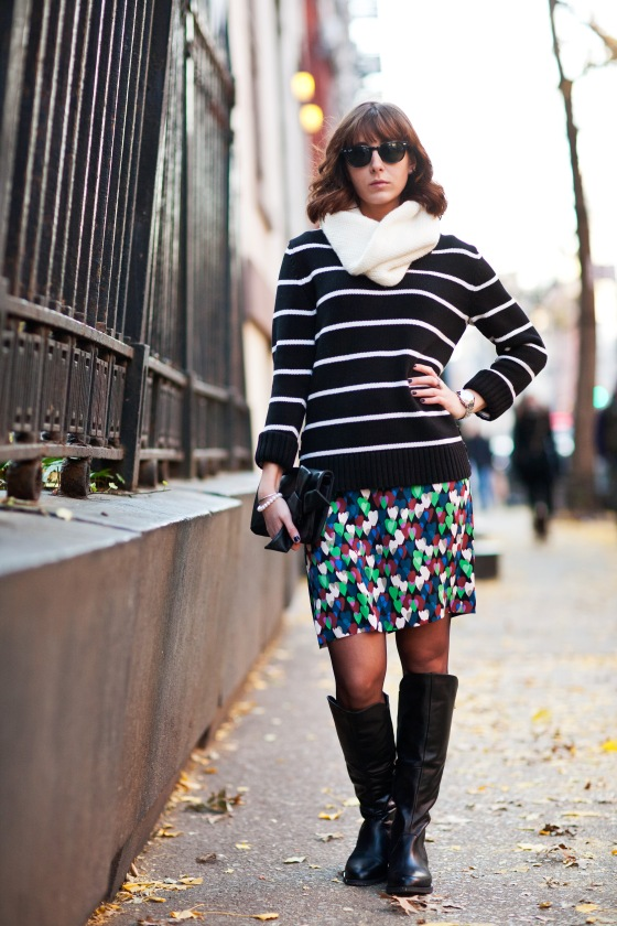 DVF Dress and Stripes