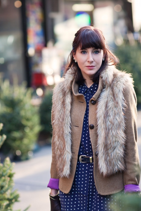 Hillary Christine, fur and coat
