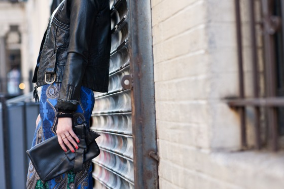 Paisley pants, leather jacket, Lydia Hudgens Photography