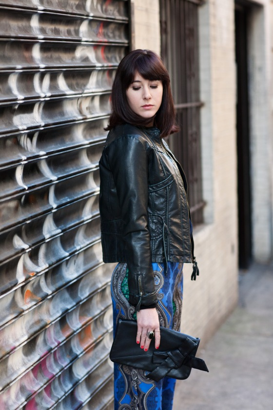 Bow clutch, Leather jacket, Lydia Hudgens Photography