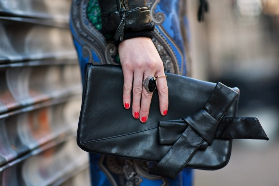 Bow clutch, Cocktail Ring, Gorjana Ring