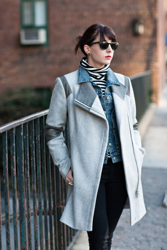 Wool and leather coat, Layering tips, J. Crew Jeans