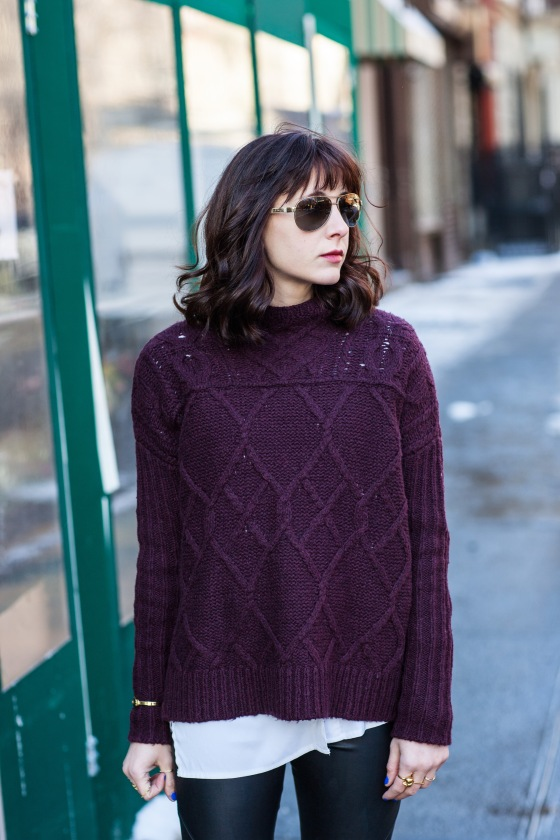 Fashion blog, Loft Sweater, Ralph Lauren aviators