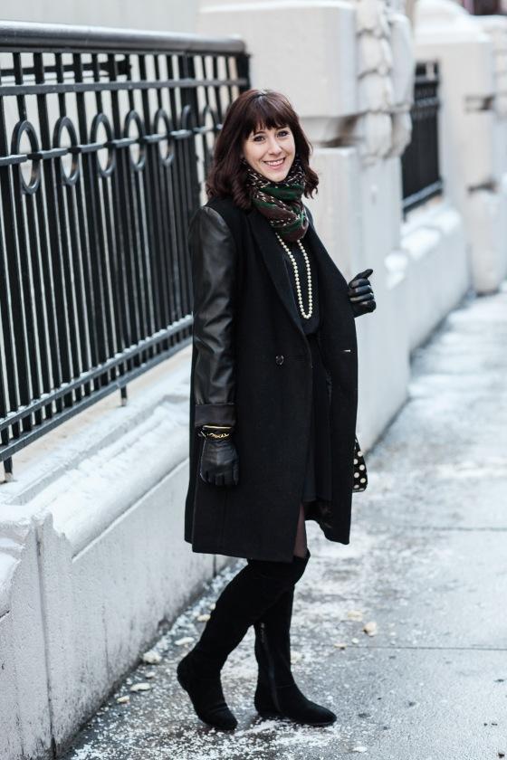 Calvin Klein Boots, Aqua Coat, Leopard Scarf