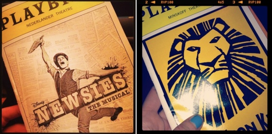 Playbills, Newsies, Lion King