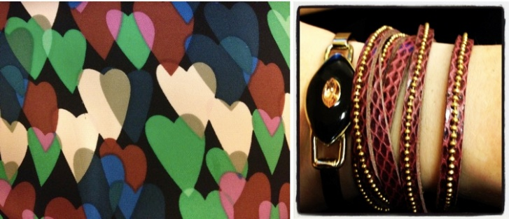 DVF hearts, Presh wrap bracelet