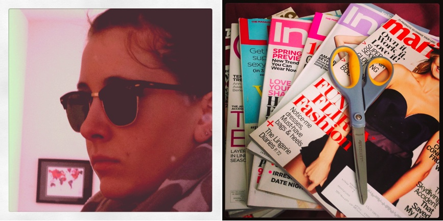 RayBan sunglasses, fashion magazines, Marie Claire, InStyle, Lucky