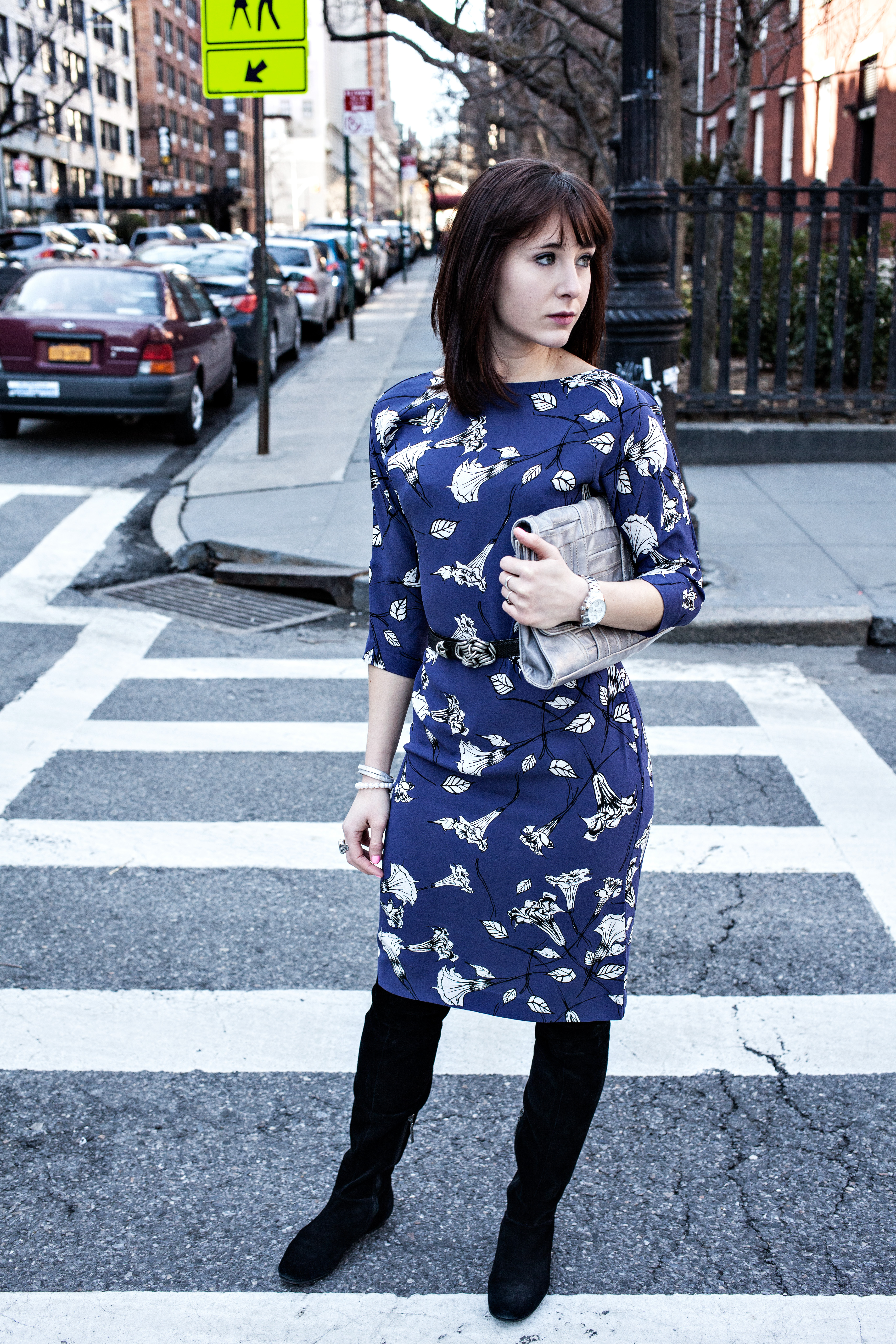 T. Babaton dress, Calvin Klein boots, Personal style blog