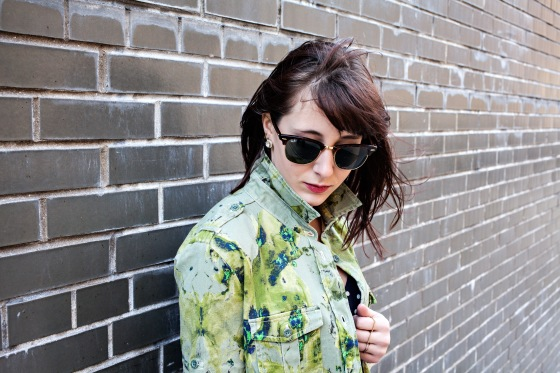 Hillary Christine Biggs, See by Chloe jacket, Ray Ban sunglasses