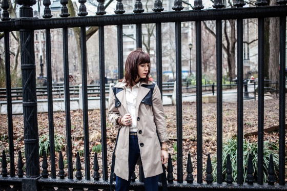 Cynthia Rowley trench coat, Marc by Marc Jacobs blouse, Lydia Hudgens photography