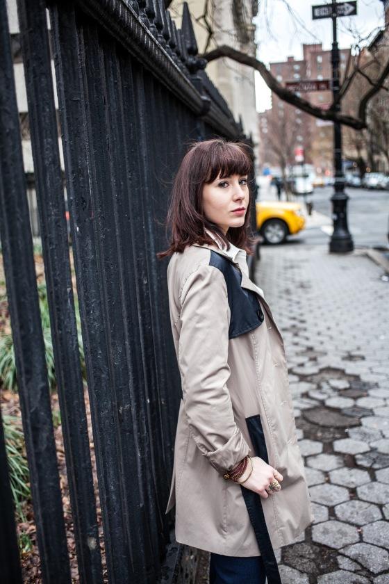 Cynthia Rowley trench coat, personal style, Lydia Hudgens photography