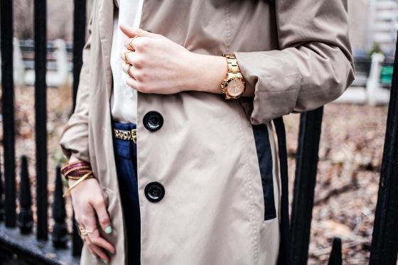 H&M belt, Michael Kors watch, Presh wrap bracelet