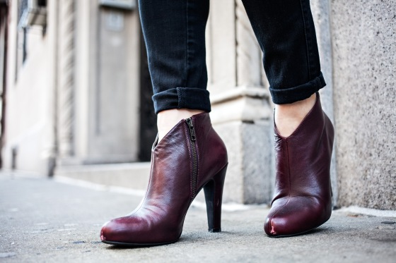 Jessica Simpson Booties, oxblood, Lydia Hudgens photography