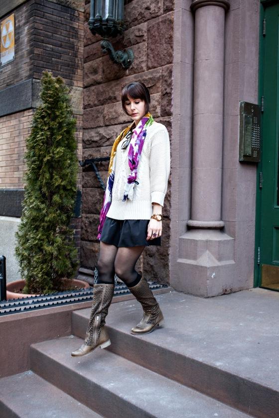Spring fashion, Floral, Cynthia Rowley scarf