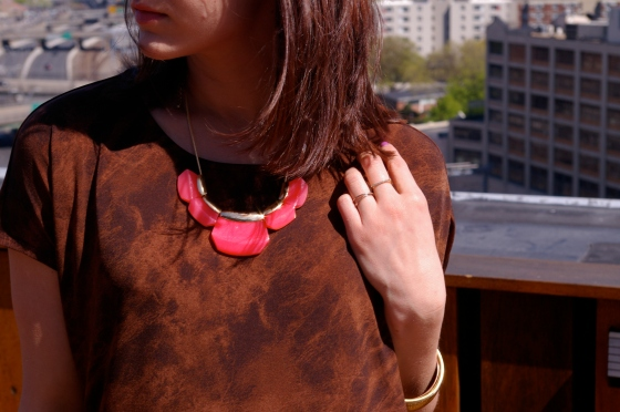 Michael Kors dress, BaubleBar necklace, Personal style blog
