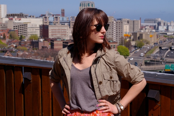 Spring fashion, LOFT jacket, floral trend