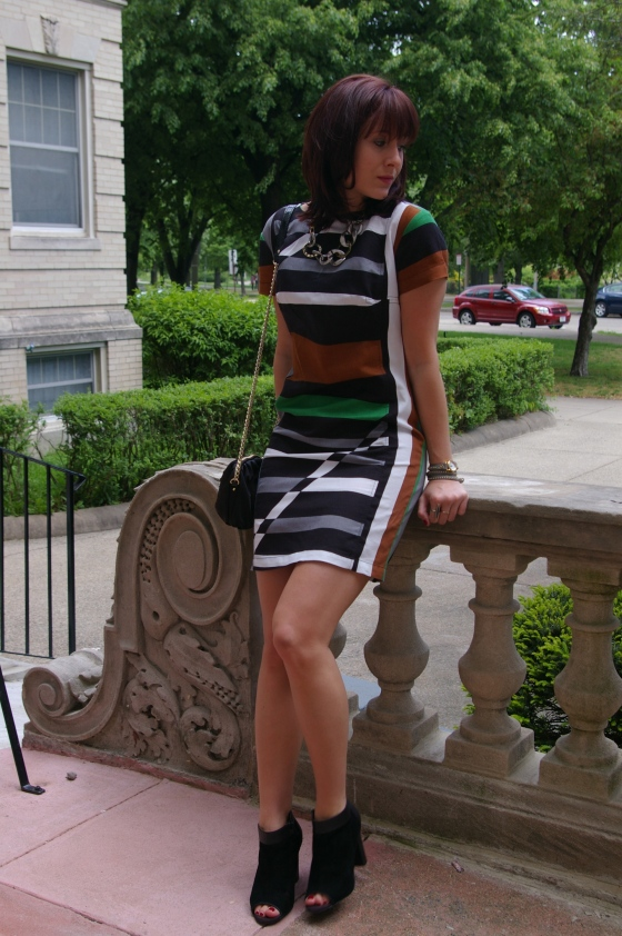 Derek Lam for Kohls dress, Boston blogger, how to wear stripes