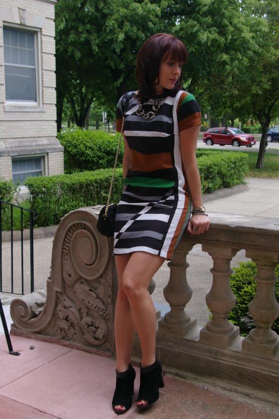 Derek Lam for Kohls dress, Boston blogger, how to wear stripes