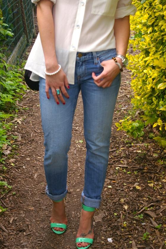 J. Crew denim, Steve Madden sandals, Personal Style blog