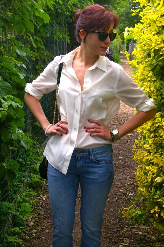 Kate Spade bag, Marc by Marc Jacobs blouse, Michael Kors watch