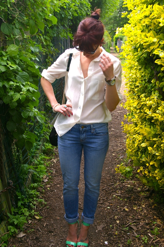 Ray Ban sunglasses, Marc by Marc Jacobs blouse, Personal style blog