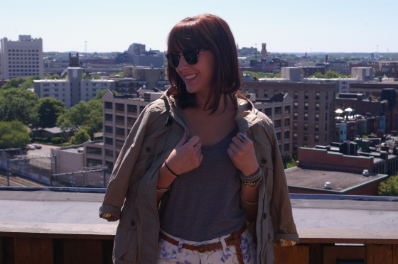 Loft anorak, Ray-Ban sunnies, Paige Denim