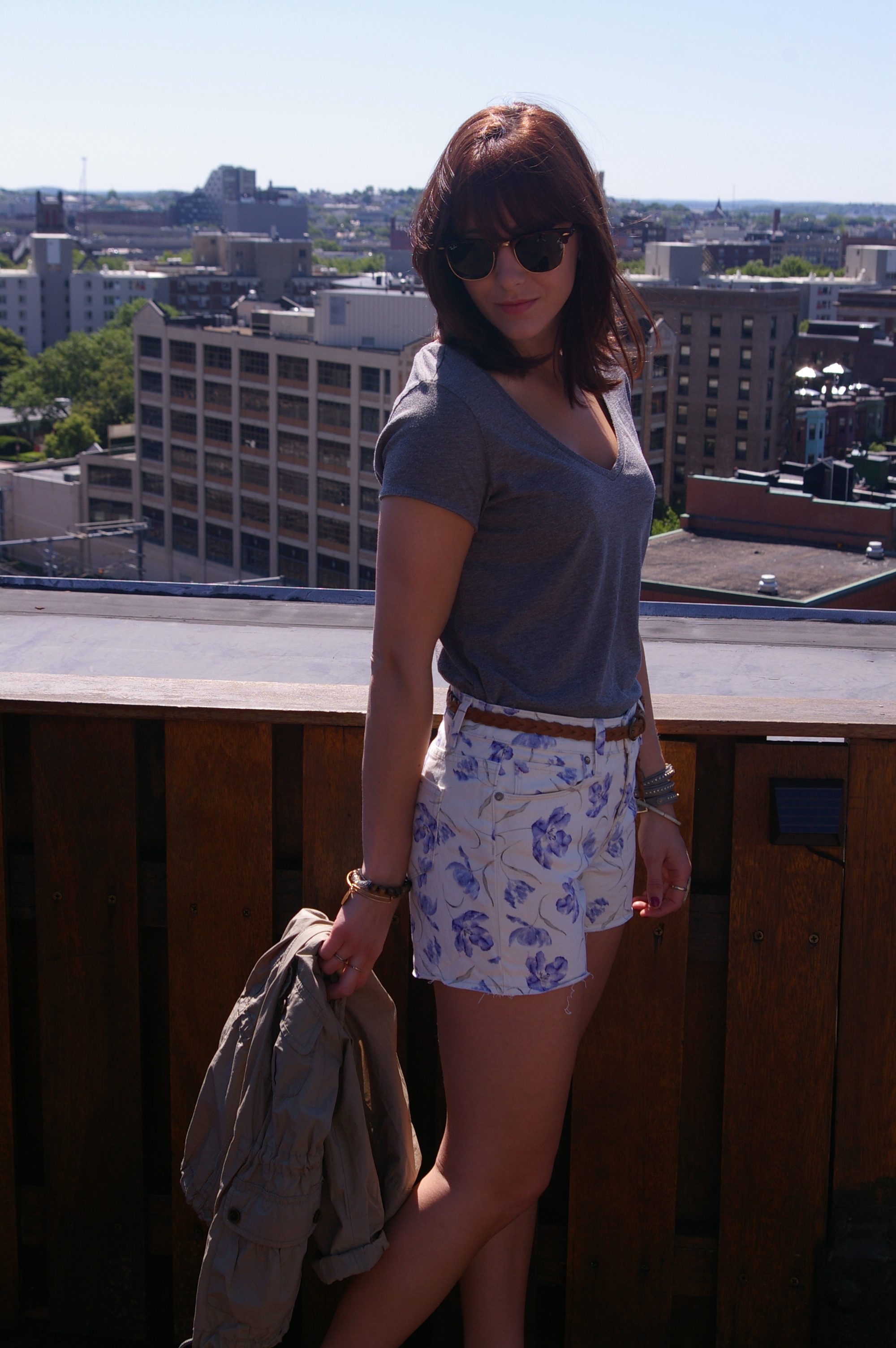 Ray-Ban sunnies, Summer fashion, Paige Denim shorts