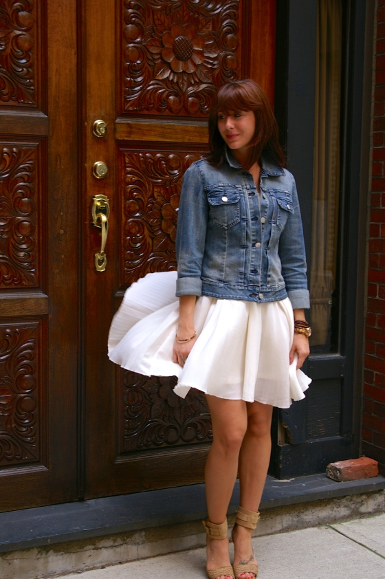 White Dress, Summer Fashion, Denim Jacket