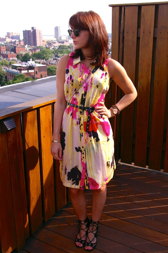Anthropologie dress, Shoemint Sandals, Personal style