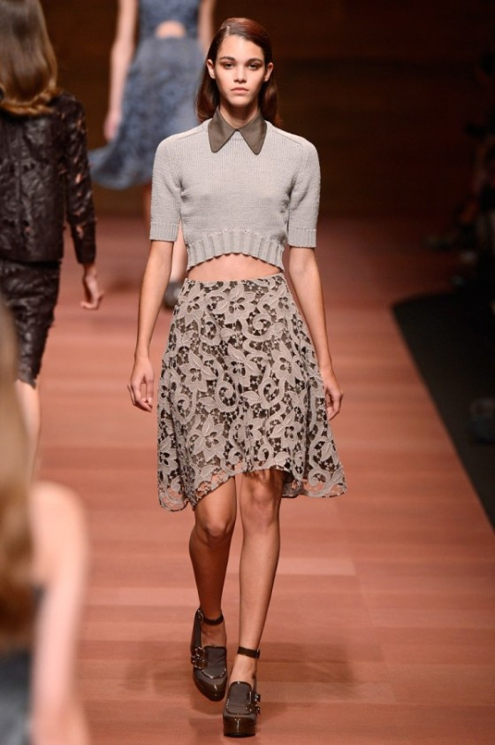 Carven, Spring Runway 2013, Crop top trend