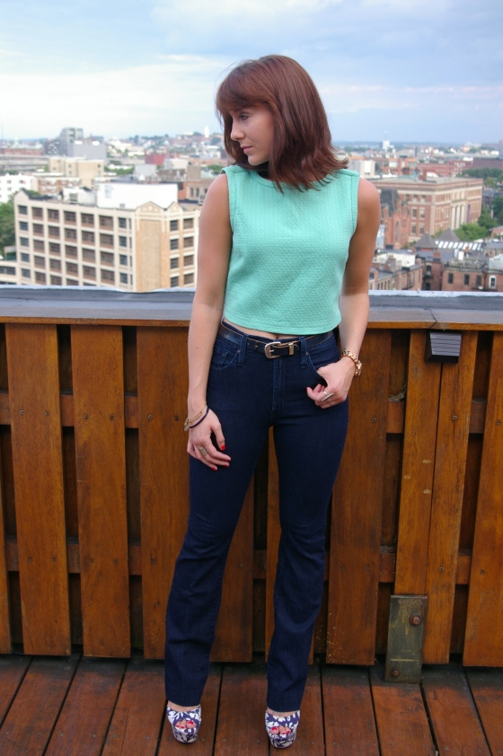 See by Chloe top, James Jeans denim, Steve Madden shoes
