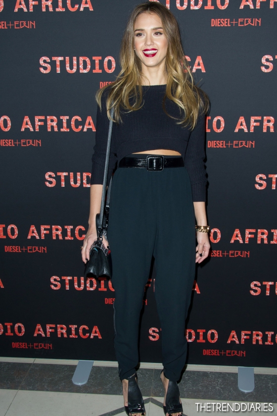 Jessica Alba, Crop top trend, Red Carpet style