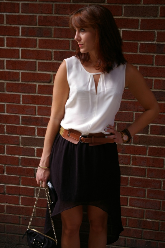 NIC+ZOE Keyhole top, Hi-Low skirt, Summer fashion