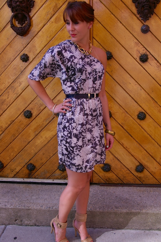 Floral, One-shoulder dress, Summer fashion