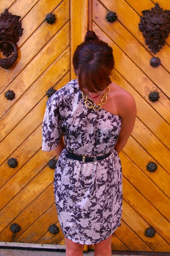 Summer fashion, vintage belt, Michael Kors necklace